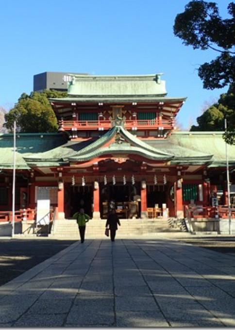 力士雷電の史跡・富岡八幡宮